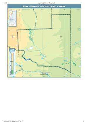 Mapa mudo de ríos de La Pampa. Mapoteca de Educ.ar