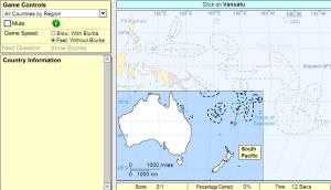 Countries of Oceania. Beginner. Sheppard Software