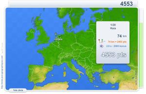 Cidades de Europa.  Jogos geográficos