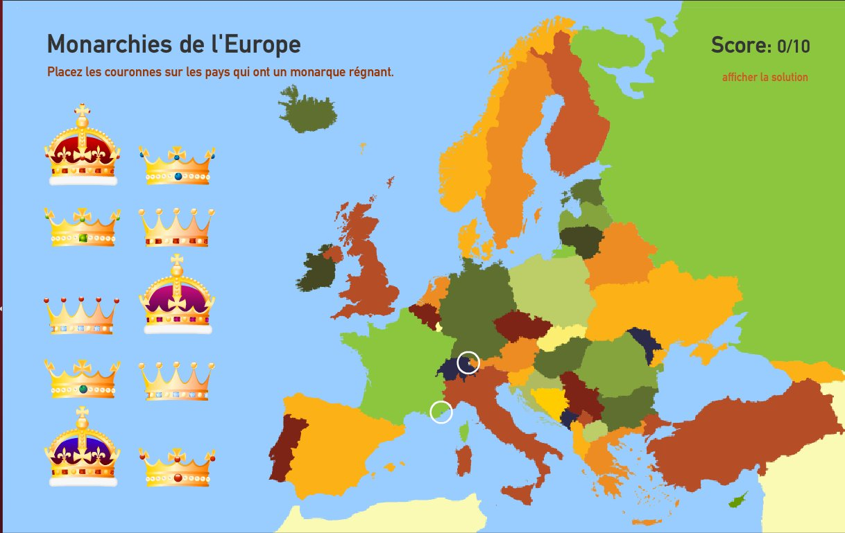 Monarchies de l'Europe. Toporopa