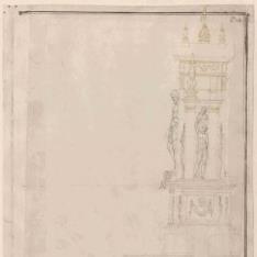 Alzado lateral del altar de la iglesia de Santa Maria de'Servi, Bolonia