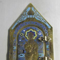 Lateral de arqueta con portezuela y representación de San Pedro