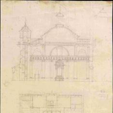 Proyecto para la iglesia de San Sebastián y San Ildefonso de Olula del Río. Almería