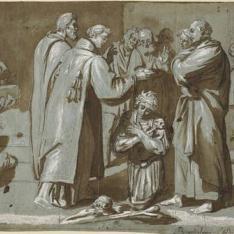 San Lorenzo, bautizando a unos encarcelados