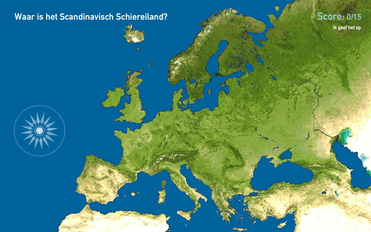 Schiereilanden van Europa. Toporopa