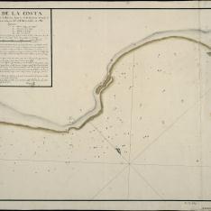 Plano de la Costa desde la Torre y Fondeadero de Balerma hasta la de las Centinas