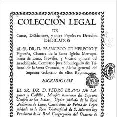 Colección legal de cartas, dictámenes y otros papeles en derecho...