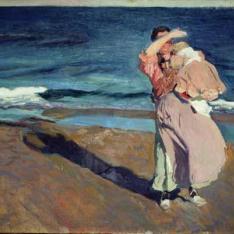 Pescadora con su hijo, Valencia
