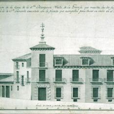 Alzado del palacio de la Marquesa viuda de la Granja