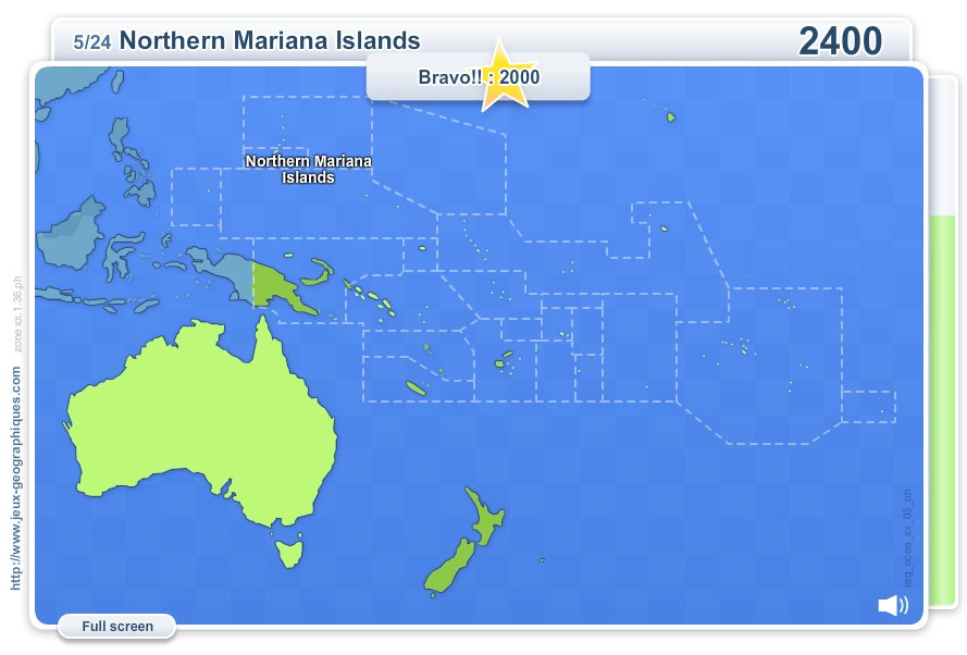 Interactive Map Of Oceania Geo Quizz Oceania Geography Map Games