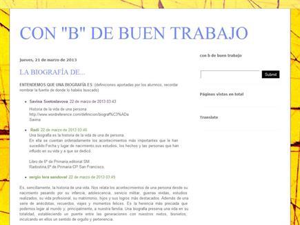"""CON """"B"""" DE BUEN TRABAJO"""