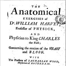 The anatomical exercises of Dr. William Harvey ... concerning the motion of the heart and blood