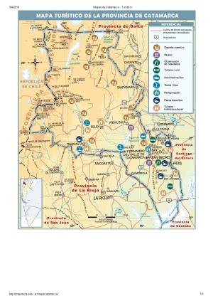 Mapa turístico de Catamarca. Mapoteca de Educ.ar