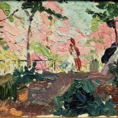 Por el jardín