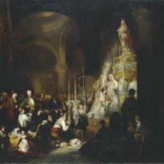 Misa mayor en una iglesia andaluza