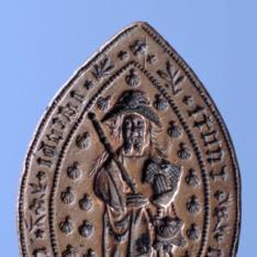 Matriz para sello de la iglesia parroquial de Santiago o San Jaime de Calatayud