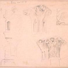 Capiteles y molduras de Santa María del Temple en Ceinos de Campos, Valladolid
