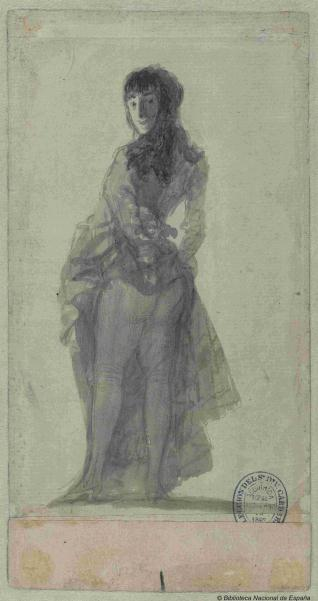 Mujer joven levantándose la falda