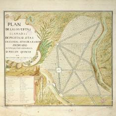 Plan de las huertas llamadas de Picotajo