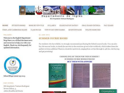 Blog del Departamento de Inglés, IES Arquitecto Ventura Rodríguez