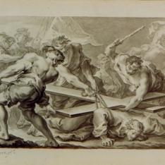 Tercera caída de Cristo, azotado por los sayones