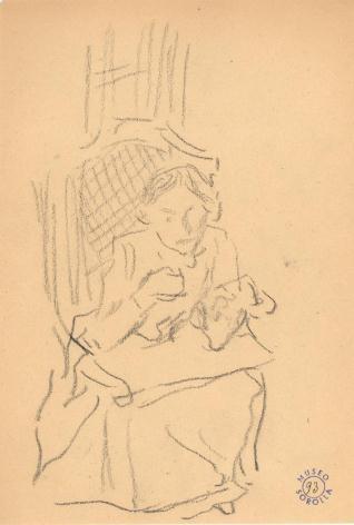 María cosiendo