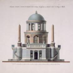 Monumento a las víctimas del Dos de Mayo. Alzado principal