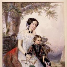 Retrato de la Archiduquesa Isabel de Austria con su hija (?)