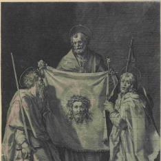 San Pedro con el santo sudario