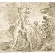 El juicio de Paris / Piernas y torso de un desnudo masculino