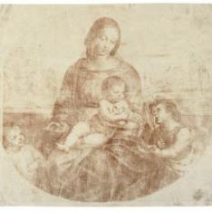 """""""La Virgen y el Niño, con San Juanito, procedente de la """"""""Madonna Terranueva"""""""""""""""
