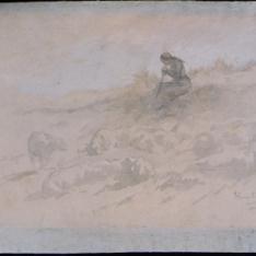 La pastorcilla sentada