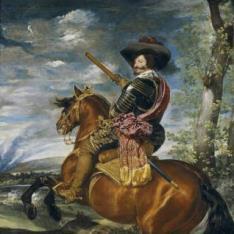 Gaspar de Guzmán, conde-duque de Olivares, a caballo