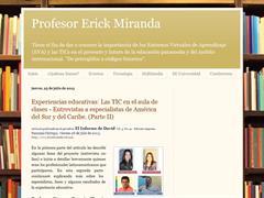 Profesor Erick Miranda