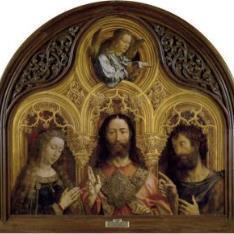 Cristo entre la Virgen María y San Juan Bautista