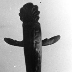 Asa romana con palmeta y máscara de Sileno