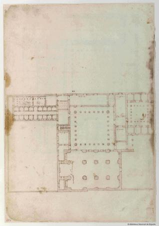 Planta del monasterio de la Santísima Trinidad de Sevilla
