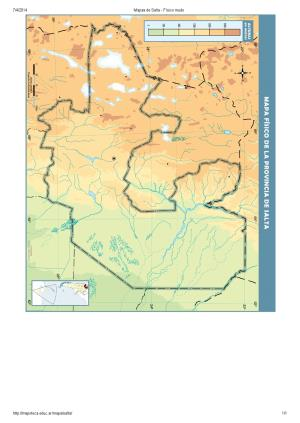 Mapa mudo de ríos de Salta. Mapoteca de Educ.ar