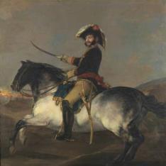 El general José de Palafox, a caballo