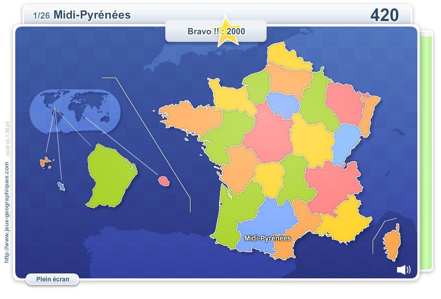 Régions de France. Jeux géographiques