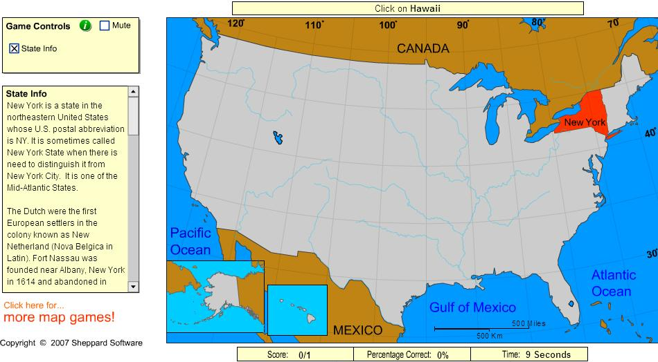 States of United States. Cartographer. Sheppard Software