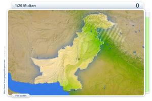 Cities of Pakistan . Geography map games