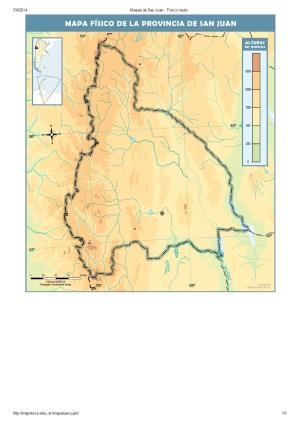 Mapa mudo de ríos de San Juan. Mapoteca de Educ.ar
