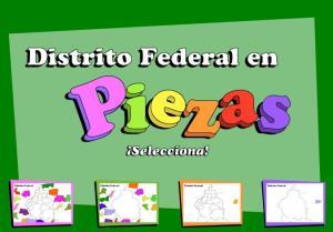 Municipios de Distrito Federal. Puzzle. INEGI de México
