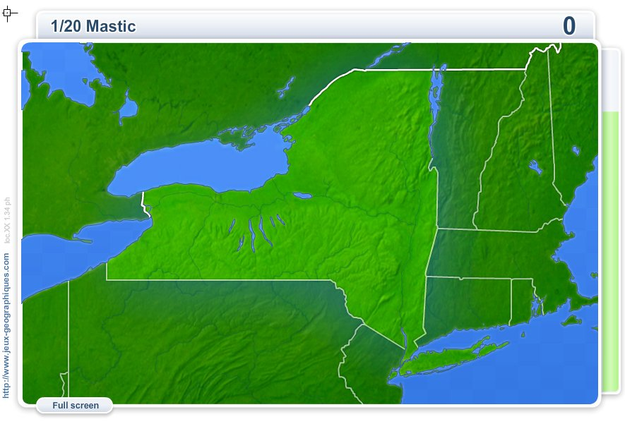 Cities of New York . Geography map games