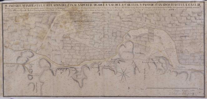 Plano que manifiesta la situación del Canal Ymperial