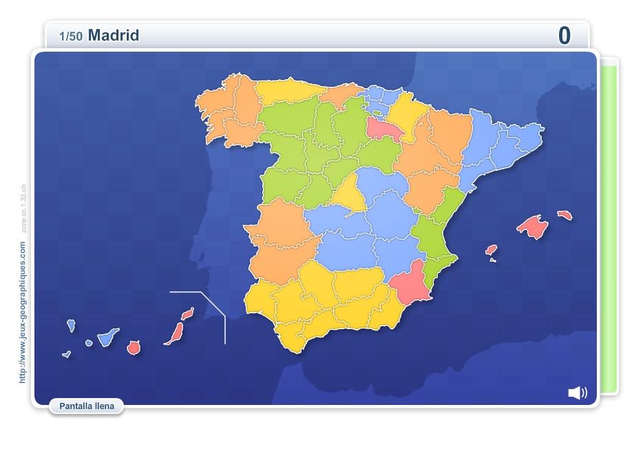 Provincias de España. Juegos Geográficos