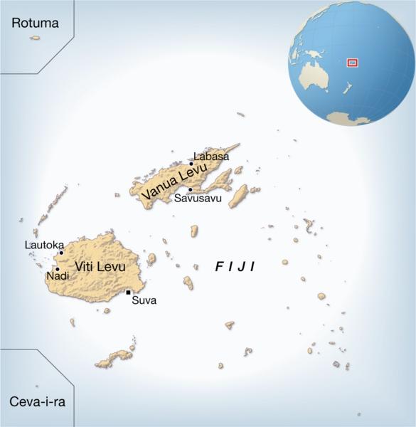 Islas Fiji Mapa Mundi About Townsville