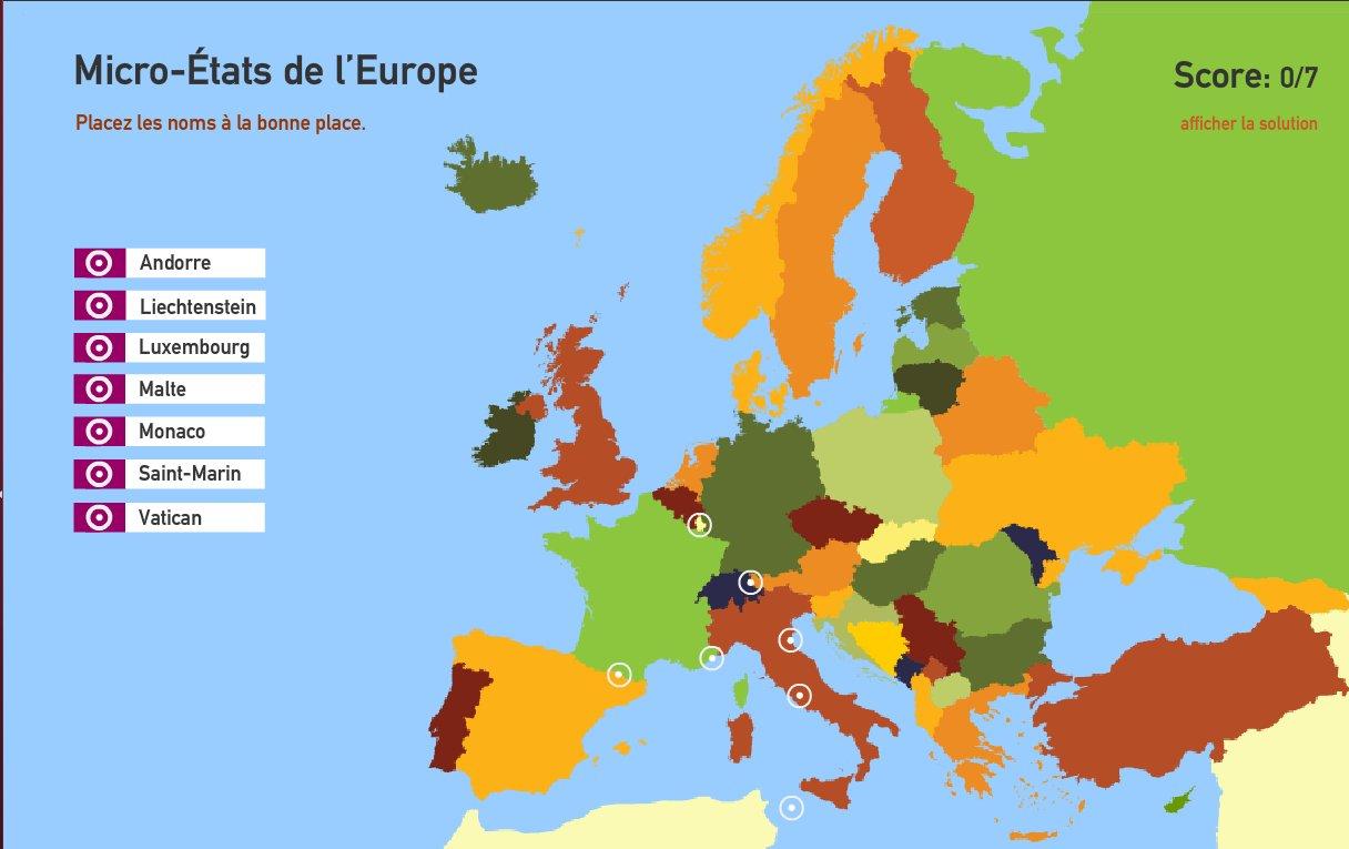 Micro-États de l'Europe. Toporopa