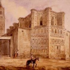 Vista exterior de la iglesia del monasterio de San Pedro Mártir, Calatayud, Zaragoza